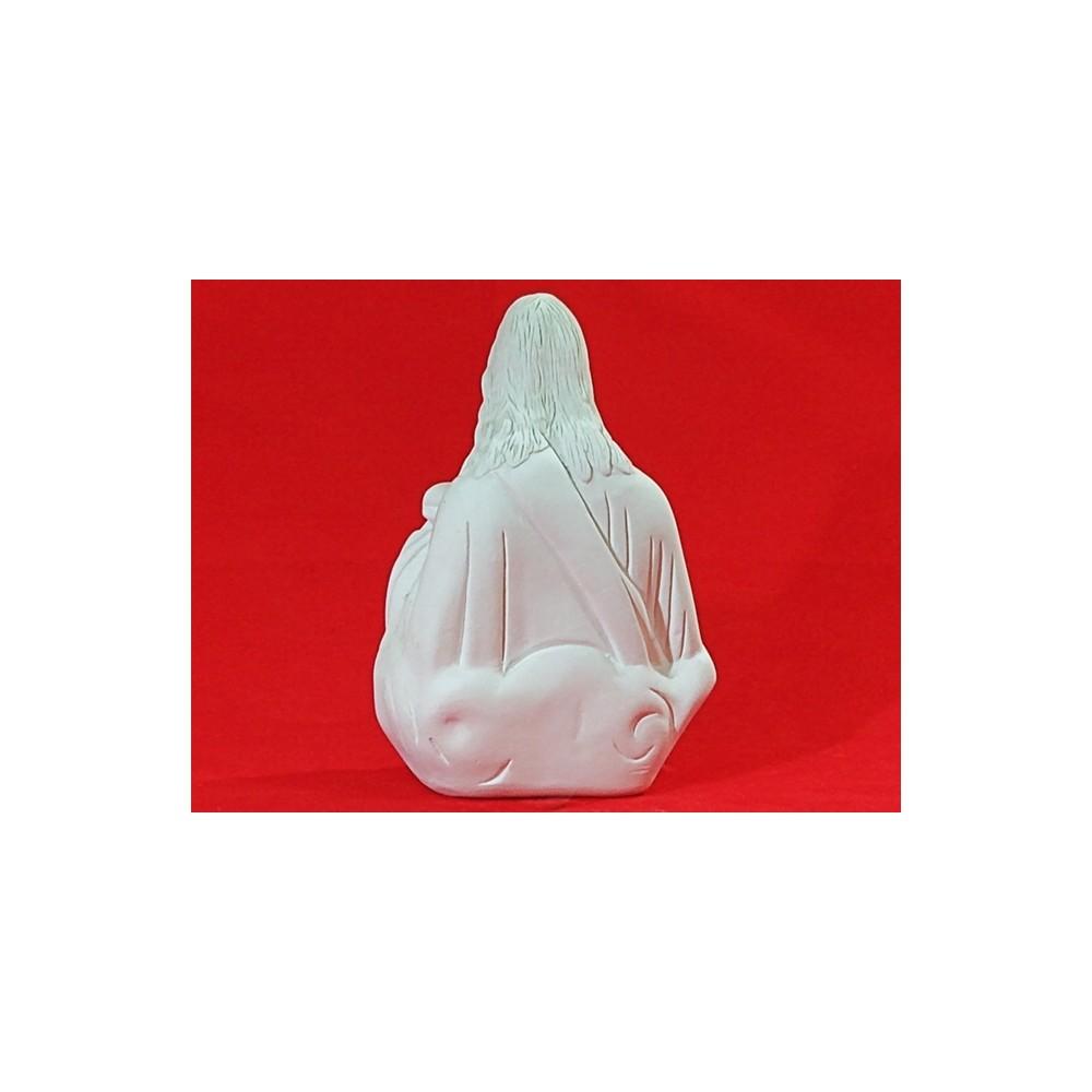Imagem Divino Espírito Santo em gesso cru 16x16cm