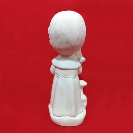 Nossa Senhora das Graças Medalha Milagrosa Baby Gesso Cru 15cm